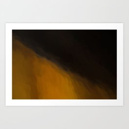 Abstract Orange to Black Shades.   Like painted on canvas. Art Print
