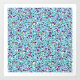 Flowers, Clovers & Diamonds Art Print