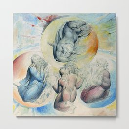 "William Blake ""St. Peter, St. James, Dante and Beatrice with St. John Also"" Metal Print"