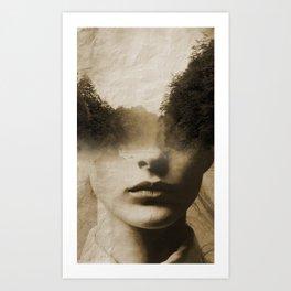 La dama del lago Art Print