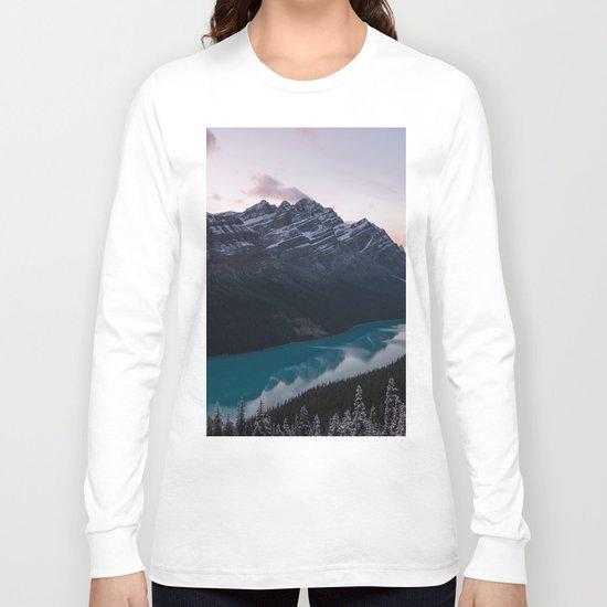 Peyto Lake at dusk Long Sleeve T-shirt