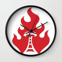 Seattle Riot | Flame Wall Clock