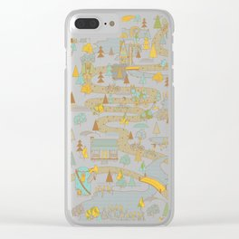 Over the River and Through the Woods Clear iPhone Case