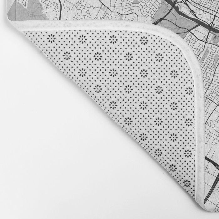 Austin Map Gray Bath Mat