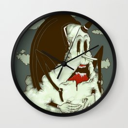 Creep Cloud Face Melt Wall Clock