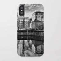 liverpool iPhone & iPod Cases featuring Liverpool Reflection by Caroline Benzies Photography