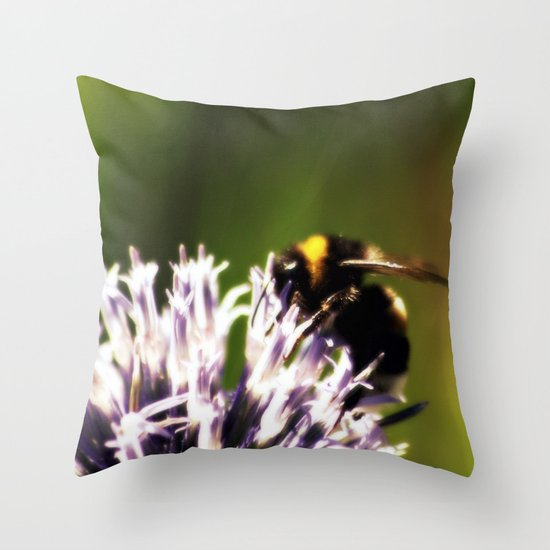 In the green light Throw Pillow