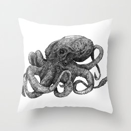 Octopus II Throw Pillow