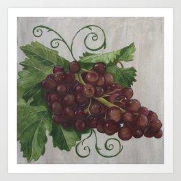 Chianti and Friends Grapes Art Print