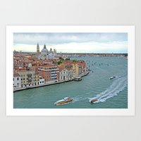 Venetian Sail Away Art Print