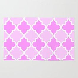 Quatrefoil - light pink dual Rug