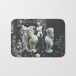 Greek statues *neon lights* Bath Mat