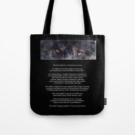 TWO WOLVES CHEROKEE  Native American Tale Tote Bag