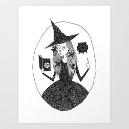 Wiccan Witch Art Print