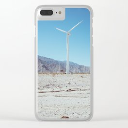 Palm Springs Windmills III Clear iPhone Case