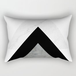 Arrows Monochrome Collage Rectangular Pillow