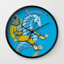 Deep Sea Hunting Wall Clock