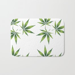 Marijuana Leaves  Bath Mat
