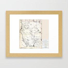 Northern California Map 1866 Framed Art Print