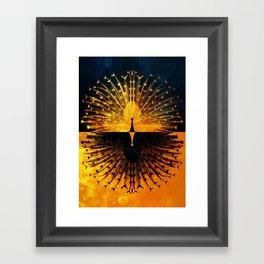 Peacock - Mad Men inspired Framed Art Print