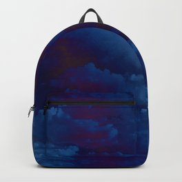 Clouds in a Stormy Blue Midnight Sky Backpack