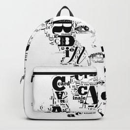 Typographic image Claudia Cardinale Once upon a time in the west Backpack