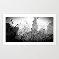 battlefield Art Prints featuring Ruined Battlefield by Simon Lutrin