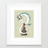 freeminds Framed Art Prints featuring Dragon Spirit by Freeminds