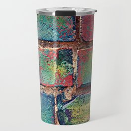 The Rainbow Brick Wall Travel Mug