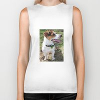 jack russell Biker Tanks featuring Jack Russell by Brmbrmba27