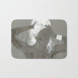 girl with silver trabzon hasırı bracelet Bath Mat