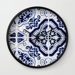 Azulejo VI - Portuguese hand painted tiles Wall Clock