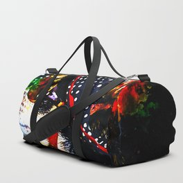 classy chihuahua dog lady splatter watercolor Duffle Bag