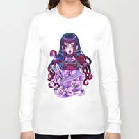 goth Long Sleeve T-shirts featuring Goth Penanggalan by Gunkiss