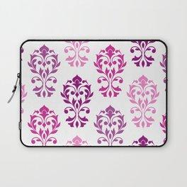 Heart Damask Art I Pinks Plums White Laptop Sleeve