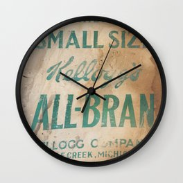 All-Bran Wall Clock