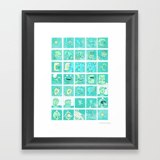 The story of being eaten Framed Art Print