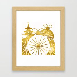 Gold Christmas 01 Framed Art Print
