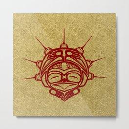 Blood Frog Sand Metal Print