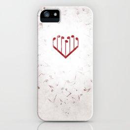 Music Heart gray iPhone Case