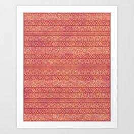 Tribal Batik in Carnelian Art Print