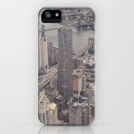 New York City from Above iPhone Case