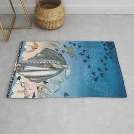 Flock Of Birds And Wild Flowers By Kay Nielsen Rug