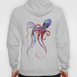 Octopus, blue red purple octopus art, octopus design Hoody