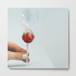 Rubber Band Lollipop Metal Print