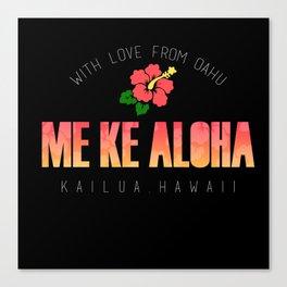 With Love, Kailua Canvas Print