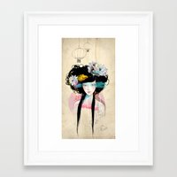 pastel Framed Art Prints featuring Nenufar Girl by Ariana Perez