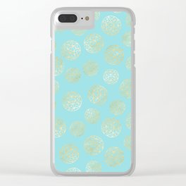 Golden Balls Clear iPhone Case
