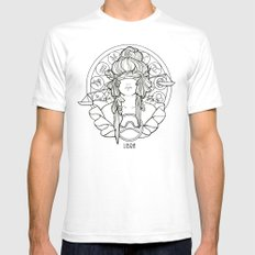 Zodiac Series   Libra Mens Fitted Tee White SMALL
