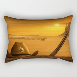 The sheriff is on the road Rectangular Pillow